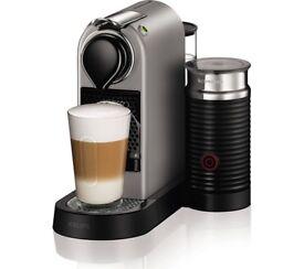 NESPRESSO by Krups Citiz & Milk XN760B40 Coffee Machine - Silver