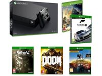 XBOX ONE X WITH 5 GAMES BRAND NEW & SEALED