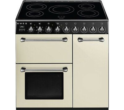 Graded Smeg BM93IP 90cm Cream Induction Range Cooker (JUB-29341) RRP £1999