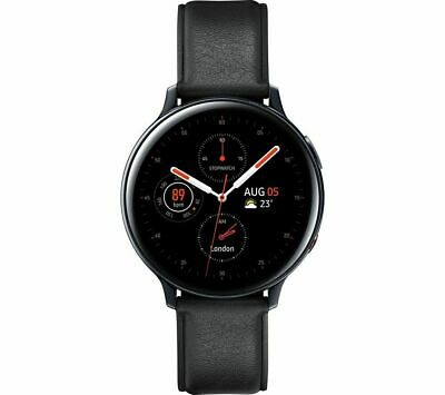 SAMSUNG Galaxy Watch Active2 4G - Black Leather & Stainless Steel 40mm LTE EE