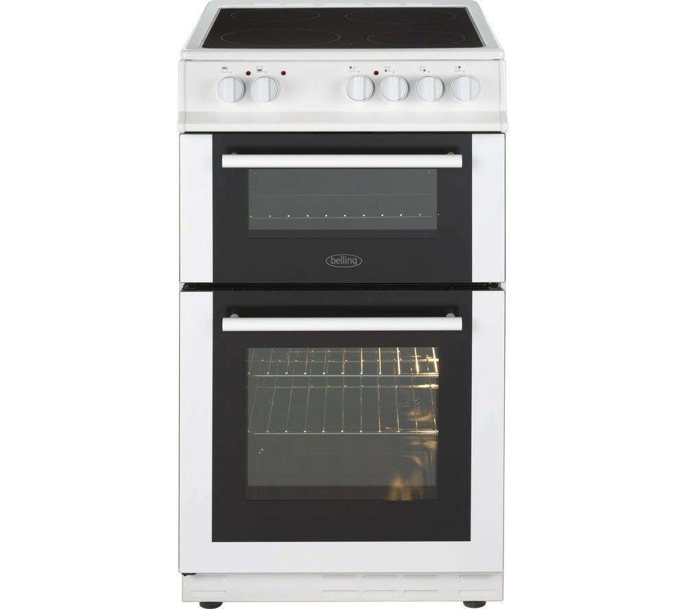 Ex Display Belling Fs50edoc 50 Cm Electric Ceramic Cooker White Collection Ovens Single Lamona Conventional Oven