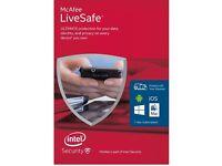McAfee LiveSafe - 1 year subscription