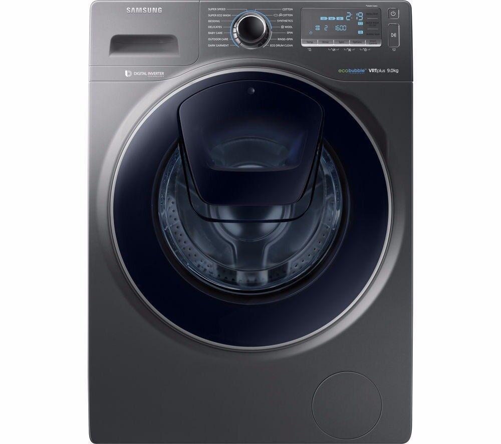 SAMSUNG AddWash WW90K7615OX Washing Machine - Graphite