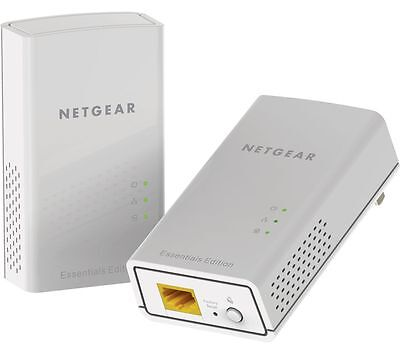 NETGEAR PL1000 Powerline Adapter Kit - Twin Pack White Up to 1000 Mbps