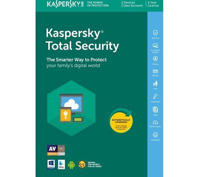 Kaspersky Total Security 2018 3 Devices 1 Year Digital, used for sale  Shipping to South Africa