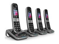 BT 8610 Cordless Phone with Answering Machine - Quad Handsets NEW