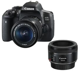 Canon 750D With 18-55mm and 50mm 1.8 STM