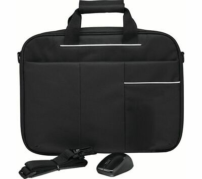 "LOGIK 14"" Laptop Bag & Wireless Mouse Bundle - Black - Currys"
