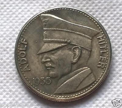 1935 Adolf Hitler 5RM Coin German Third Reich