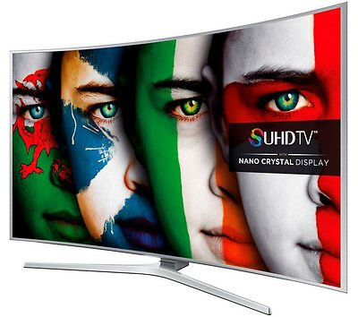 "SAMSUNG SUHD UE55JS9000 Smart 3D 4k HD 55"" Curved LED TV with Freeview/Freesat"