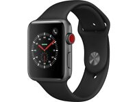 APPLE Watch Series 3 Cellular+ GPS - 42 mm Space Grey & Grey (Sports Band)