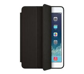 Genuine Apple iPad Mini Smart Real Leather Case - Black, Brand New Condition