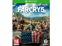 Far Cry 5 for XBOX ONE. Used but perfect condition - never left console