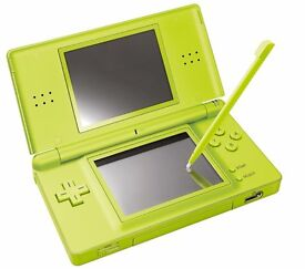Nintendo DS lite, lime green, no charger