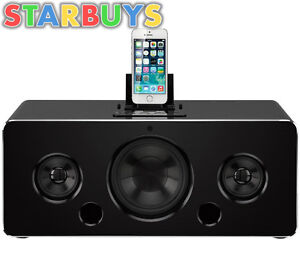 IWANTIT IBTLIA14 100W 2.1 Bluetooth Speaker and iPod iPhone iPad Dock - Black