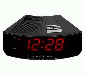 Large Display LED Clock Radio in Black