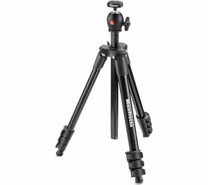 MANFROTTO MKCOMPACTLT-BK Compact Light Tripod - Black - Currys