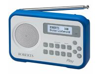 Roberts Play Portable DAB+ Radio - Blue, used 5 times, 40