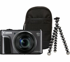 CANON PowerShot SX720 HS Superzoom Compact Camera & Travel Kit - Black - Currys