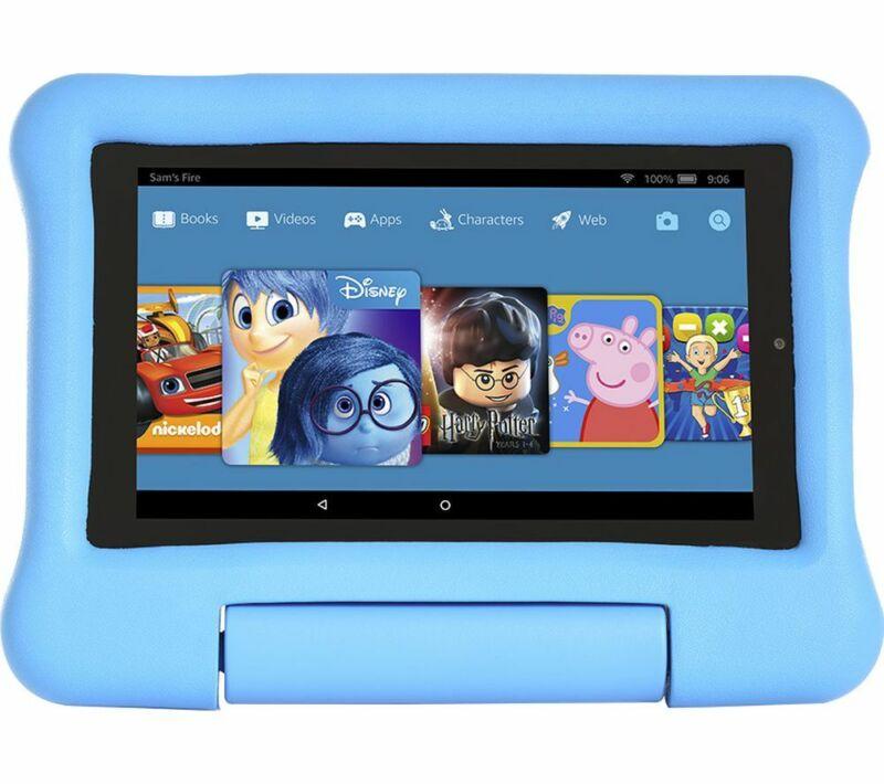 AMAZON+Fire+7%E2%80%9D+Kids+Edition+Tablet+%282019%29+-+16+GB+Blue+-+Currys