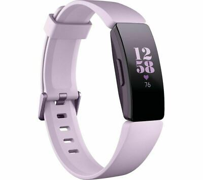 NEW FITBIT INSPIRE HR FITNESS TRACKER-LILAC UNIVERSAL 24/7 HEART RATE TRACKING