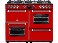BRAND NEW BELLING Kensington 100 cm Gas Range Cooker - Red & Chrome with WARRANTY!