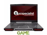 "PCspecialist built gaming laptop! 17.3"" i7, 32gb ram, 970m, 500gb SSD"