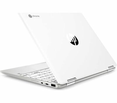 GradeB - HP x360 12in 2-in-1 Silver Chromebook - Intel Celeron N4000 4GB RAM 64G