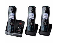 CORDLESS PHONE WITH ANSWER MACHINE by PANASONIC KX-TG8163EB - TRIPLE HANDSET - COST £119 ACCEPT £65