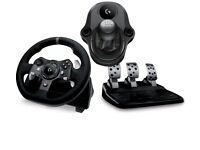 Logitech G920 Racing wheel+Gears --Xbox/pc compatible -- Barely used