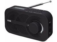 Portable DAB Radio - Black LRBDAB14