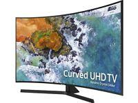 55'' CURVED SAMSUNG SMART 4K ULTRA HDR LED TV.2018 MODEL UE55NU7500. FREESAT HD.FREE DELIVERY
