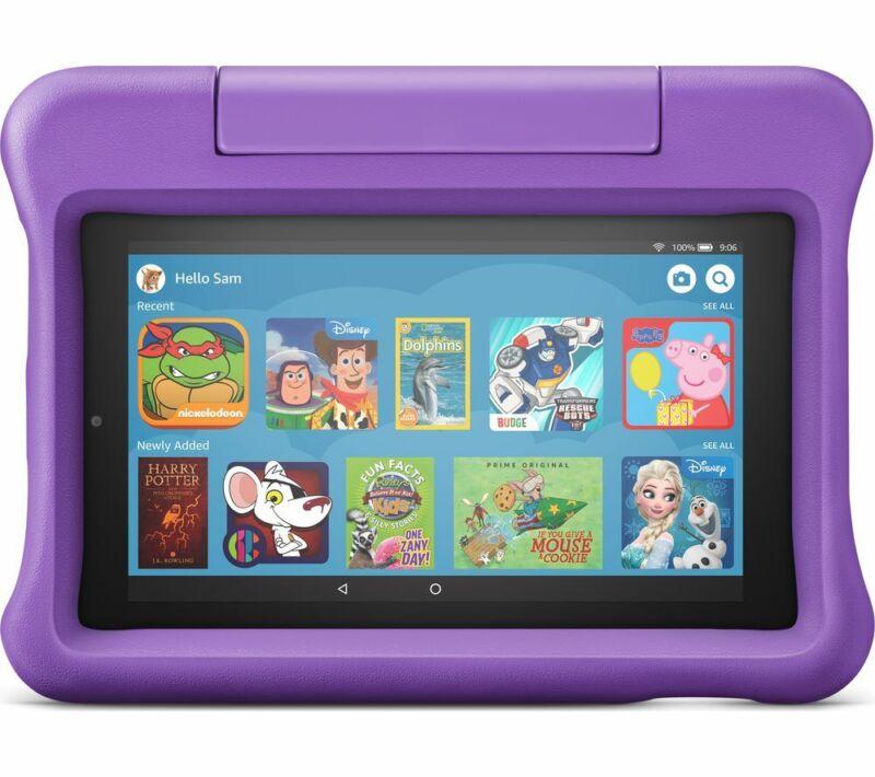 AMAZON+Fire+7+Kids+Edition+7%22+Tablet+%282019%29+-+16+GB+Purple+-+Currys