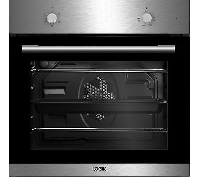 LOGIK LBFANX16 66 Litre Built in Electric Single Fan Oven - Stainless Steel