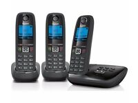New GIGASET AL415A Cordless Phone with Answering Machine Triple Handsets