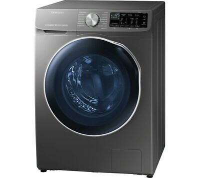 SAMSUNG ecobubble WD10N645RAX WiFi-enabled 10 kg Washer Dryer - Inox - Currys