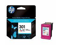 HP 301 Tri-color Original Ink Cartridge - GENUINE, NEW