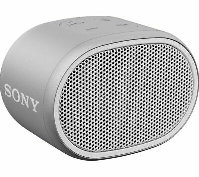 SONY SRS-XB01 Portable Bluetooth Speaker - White & Grey - Currys