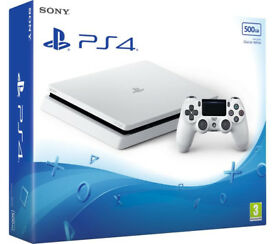 New PLAYSTATION 4 white 500mb with 2 new games LEGO AVENGERS and ARK SURVIVAL EVOLVED (play station)