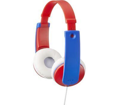 JVC Tinyphones Kids Headphones - Blue & Red - Currys