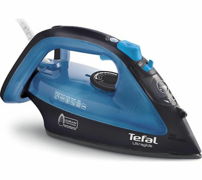e223e03b13 TEFAL Ultraglide FV4043 Steam Iron - Black & Blue - Currys