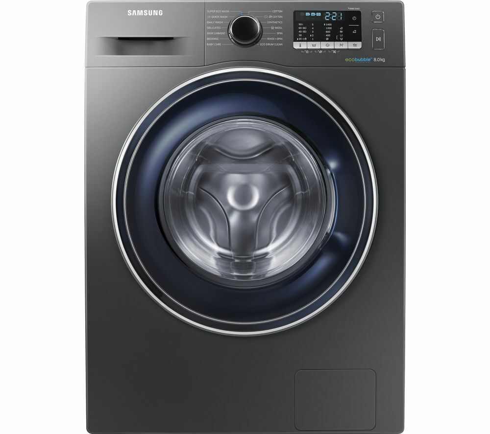 Samsung ecobubble™ WW80J5555FC 8Kg Washing Machine 1400 rpm - Graphite - A+++