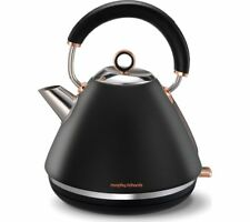 MORPHY RICHARDS Accents 102104 Traditional Kettle - Black & Rose Gold - Currys