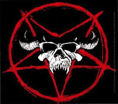 15843 Danzig Skull & Pentagram Logo Sticker Decal Misfits Glenn Punk Star Evil