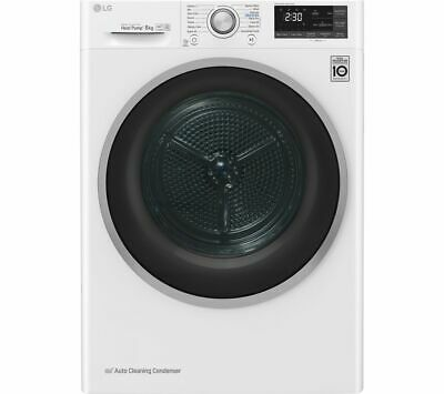LG FDJ608W WiFi-enabled 8 kg Heat Pump Tumble Dryer - White - Currys