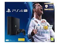 Brand New Sealed PS4 1TB Slim HD 4K Fifa 18 & WWII