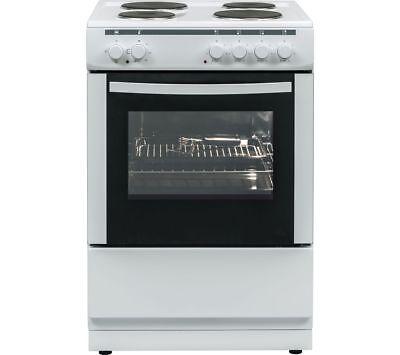 ESSENTIALS CFSE60W17 60 cm Electric Cooker - White - Currys