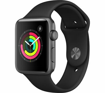 APPLE Watch Series 3 - Space Grey & Black Sports Band, 42 mm - Currys
