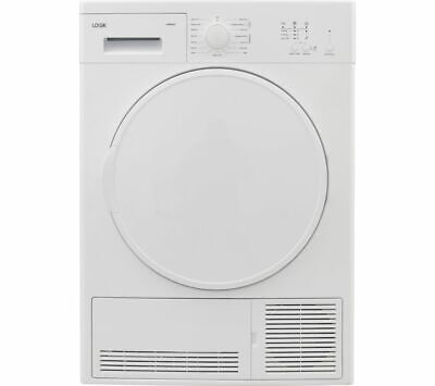 LOGIK LCD8W18 8 kg Condenser Tumble Dryer - White - Currys