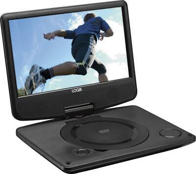 "LOGIK L9SPDVD16 9"" Inch Portable DVD Player Swivel Screen In Car Charger USB 12V"